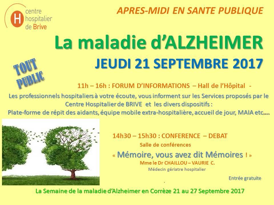 Semaine de la maladie d'Alzheimer en Corrèze - Centre ...
